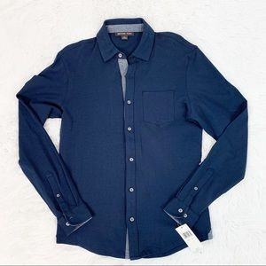 Michael kors NWT long sleeve knit button up shirt